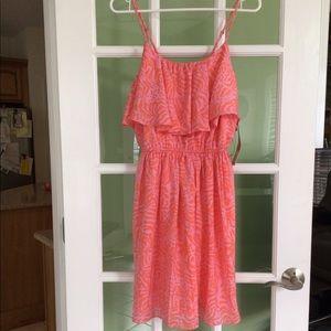 Lily Pulitzer giraffe dress w/flounce NWT size SP